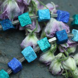 Collier FINE IRIS, blau